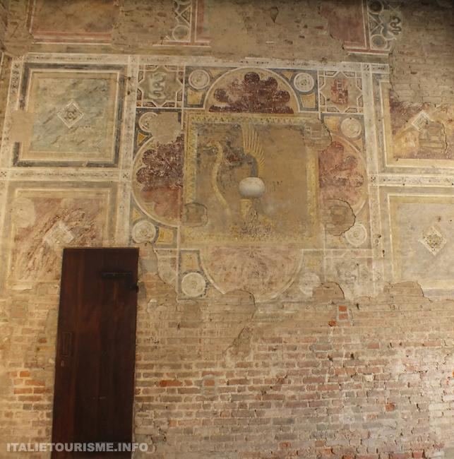 chateau de Pandino fresques- Affreschi nel castello di Pandino (Cremona)