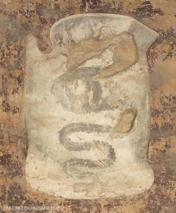 fresque armoiries chateau visconti pandino cremona