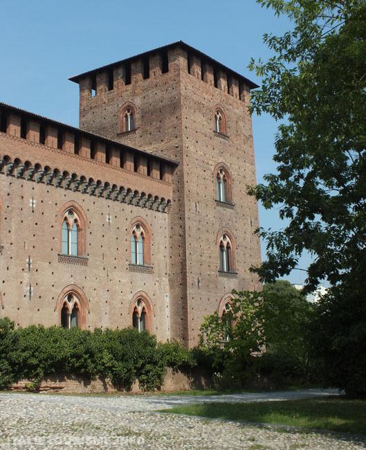 Chateau Visconti Pavie Italie: une des tours