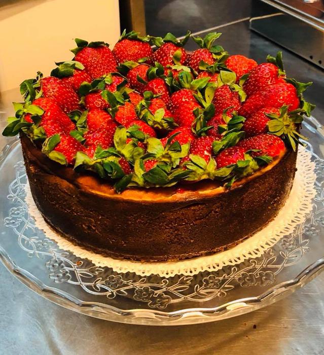 Visiter Vérone, restaurant Al Cristo, gateau aux fraises